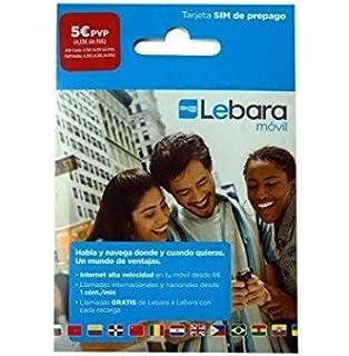 Lebara - Tarjeta SIM con 1 euro: Amazon.es: Oficina y papelería