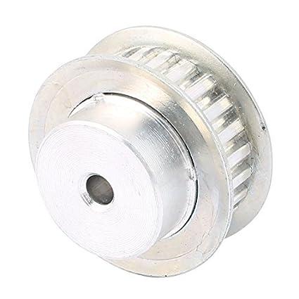 eDealMax XL24 11 mm Anchura de la correa 6mm taladro 24 Dientes Polea de temporización Síncrono tono de plata - - Amazon.com