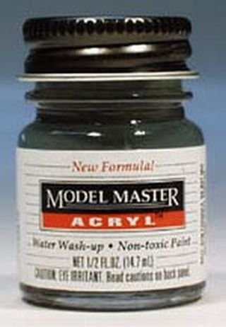 70% Acrylic (Schwarzgrun Rlm 70 Testors Acrylic Plastic Model Paint)