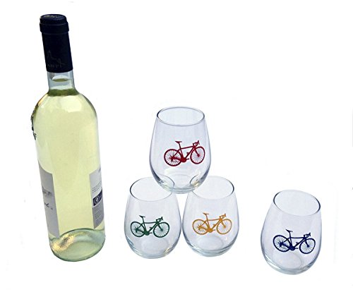 Road Bike Stemless White Glasses product image