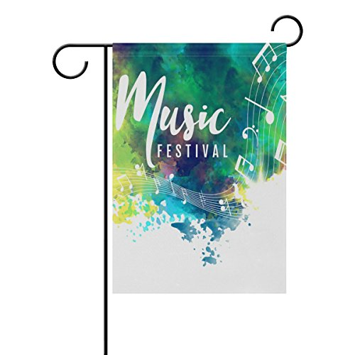 """LEISISI Abstract Style Music Garden flag 12""""X18"""" Two Sided Y"""