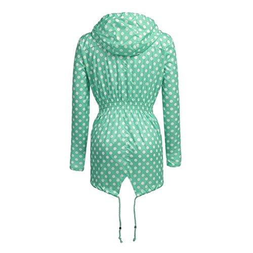 Active Outdoor Verde Weimeite Giacca Antipioggia Donna Leggera Versatile Da Impermeabile Punto Cappotto xqqYwC70