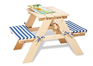 Pinolino 20 10 17 nicki mesa de jard n para ni os madera sin tratar juguetes y for Juegos de jardin para nios puebla