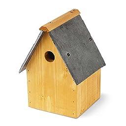 Tom Chambers Oakwell Bird Nest Box (One Size) (Light Tan/Gray)
