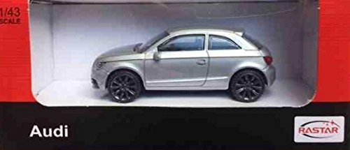 43rd Scale - 1:43rd scale Audi A1 - Silver 58200 Die-cast toys gifts Hobby cars by Rastar