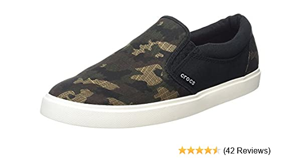 Crocs Mens Citilane Graphic Slip-On Sneaker