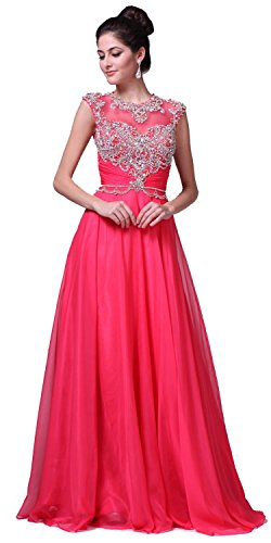 Watermelon Length Gown Prom Beaded Floor 8785 nzYwR86q