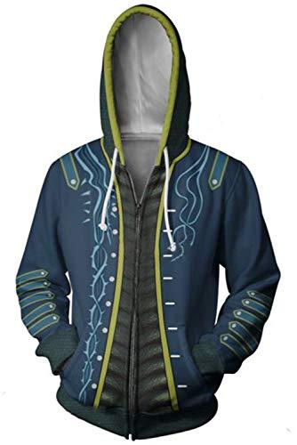 Mutrade Unisex Devil May Cry Print Hoodies Zipper Jacket Adult Cosplay Costume (XXX-Large, Vergil)