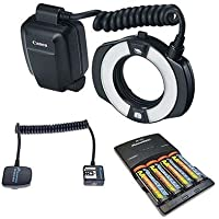 Canon MR-14EX II Macro Ring Lite Flash Bundle. USA. Value Kit with Acc #9389B002