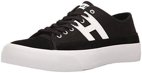 HUF Men's Hupper 2 LO Skate Shoe, Black/White, 9.5 Regular US
