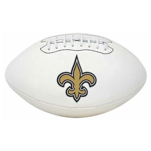 New Orleans Saints Embroidered Football - 5
