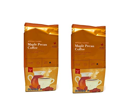 Archer Farms Maple Pecan Ground Coffee - Pack of 2 Bags - 12 oz Per Bag - Roasted Nutty Pecan Flavor With Sweet Maple - Light Roast
