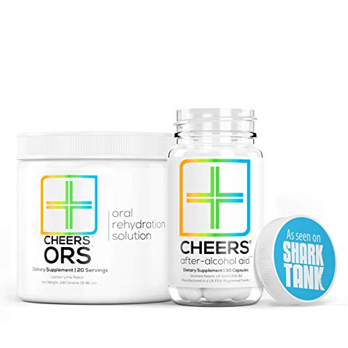 Cheers (Formerly Thrive+) After Alcohol Aid & ORS Combo | for Fast Alcohol Detox & Rehydration Recovery After Drinking Alcohol. Replenish with Our Electrolyte Formula … (Single)
