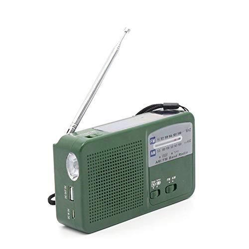 FidgetFidget Solar Hand Crank Emergency AM/FM Radio LED Flas
