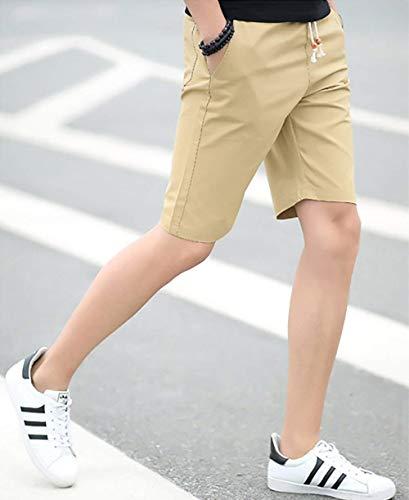 Kampfhose Fête Mit Gerades Sommer Atmungsaktiv Kurze Vêtements Coupe Zwei Bein Mode De Kaki Normale Shorts Taschen Kurzhosen Super Hosen Herren Leinen 2 1 Einfarbig Extérieur qYfPwTf
