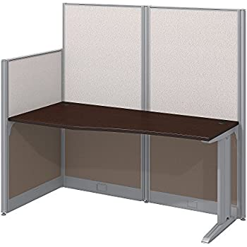 "Bush Business Furniture Office in an Hour 65 x 33"" Straight Workstation, Mocha Cherry"