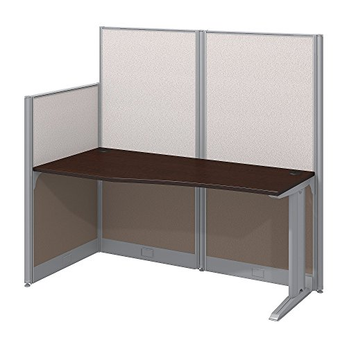 Bush Business Furniture Office in an Hour 65W x 33D Cubicle Workstation in Mocha Cherry by Bush Business Furniture