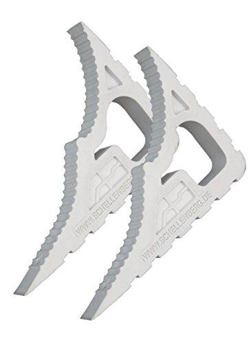 Schellenberg 66360 Fensterstopper und Türstopper Doppelpack, weiß