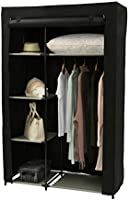 """Homebi Portable Wardrobe Clothes Closet Organizer Non-woven Fabric Storage Rack Unit with Six Shelves and One Hanging Rod,41.14""""W x 18.0"""" D x 62.2""""H"""