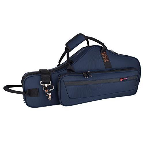 Protec Alto Saxophone Contoured PRO PAC Case with Flute Pocket, Blue, Model PB304CTBX