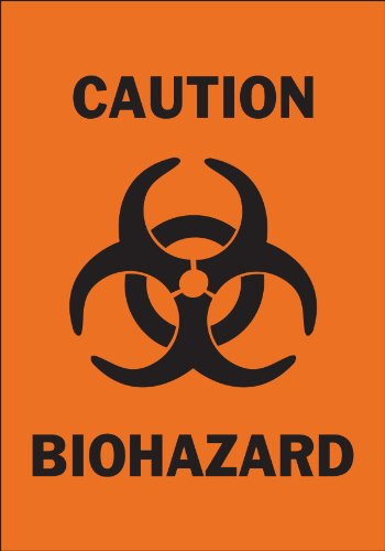 (Brady 25780 Plastic Biohazard Sign, 10
