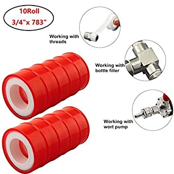10Roll Teflon Plumbing Fitting Thread Seal Tape PTFE For Water Pipe Plumbers