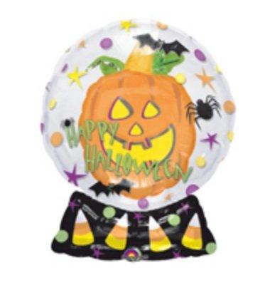 Insider Pumpkin Snow Globe Halloween Balloon