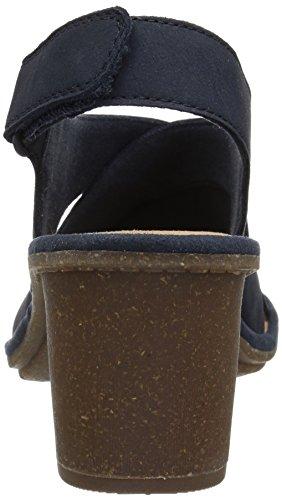 Clarks Kvinnor Sashlin Nolte Klack Sandal Marinblå Nubuck