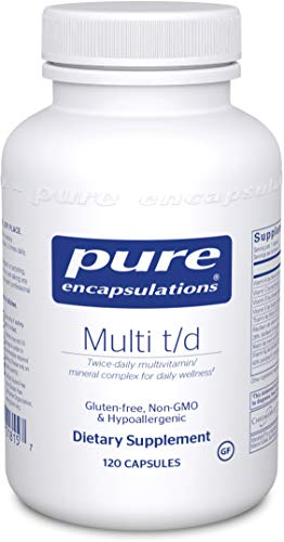 Pure Encapsulations – Multi T/D – Hypoallergenic Multivitamin/Mineral Formula Providing a Concentrated Core of Nutrient Essentials – 120 Capsules For Sale