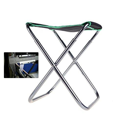 ポータブルアウトドアキャンプ釣りハイキングアルミニウムFolding Stool椅子USストック B076BDDYPL