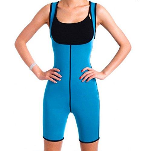 MZjJPN Hot Shapers Slim Panties Waist Trainer Neoprene Body Shaper Redu Cincher Bodysuit Slimming Underwear Full Shapewear Sauna Suit Blue XXL