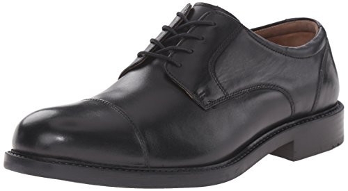 Johnston & Murphy Men's Tabor Cap Toe Oxford, Black Calfskin, 10 M US from Johnston & Murphy