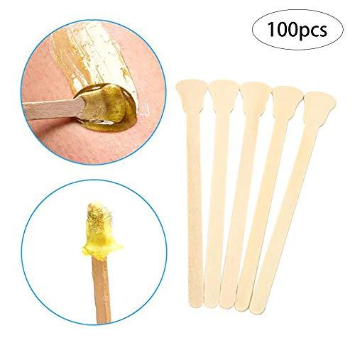 100 Graf Holz Waxing Applikatoren Wax Sticks Spatel Haarentfernung Wand Salon-Schönheits-Werkzeug Mini-Stick Haarentfernung Zubehör