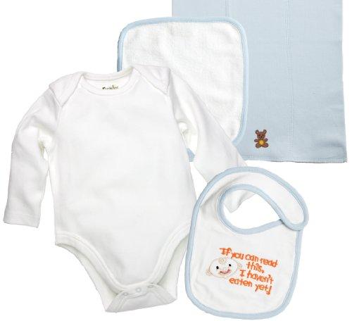 Funkoos 4-piece, Organic Cotton Baby Layette Set, Baby Boy, Newborn Infant Baby