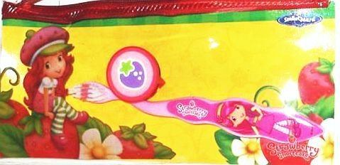 Strawberry Shortcake Toothbrush Set with Cap Incl: Zippered Pouch Smile Guard
