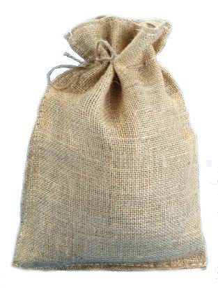 10x14 Burlap Bag with Drawstring (10 -