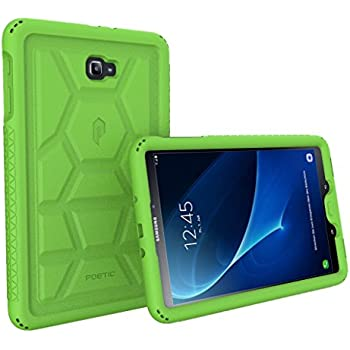 Poetic TurtleSkin Heavy Duty Protection Silicone Case with Sound-Amplification feature for Samsung Galaxy Tab A 10.1 (2016) – Green [NOT COMPATIBLE WITH THE SPEN MODEL]