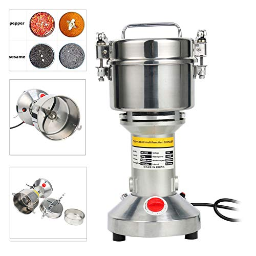 YaeTek Swing Type Grain Mill Grinder 700 gr | Stainless Steel, Commercial Grade | Grind Grain, Roots, Flour, Kernel, E-gelation, Olibanum, Milk Vetch
