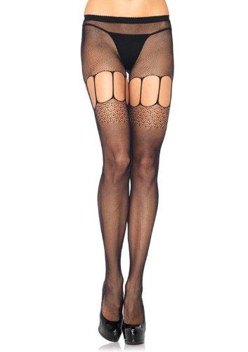 LA9943 Micro Net Suspender Pantyhose ()