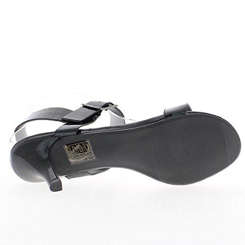 Gran talón de color beige 12cm de tamaño de sandalias