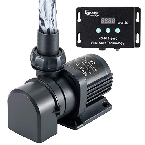 Hygger 2120GPH Quiet Submersible and External 24V Water Pump, with Controller (30%-100% Settings), Powerful Return Pump for Fish Tanks, Aquariums, Ponds, Fountains, Sump, Hydroponics (65W, 18ft) from Hygger