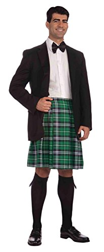 Forum St. Patrick's Day Kilt Costume, Green Plaid, One - Kilt Irish