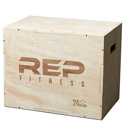 Rep 3 in 1 Wood Plyometric Box for Jump Training and Conditioning 30/24/20 ()