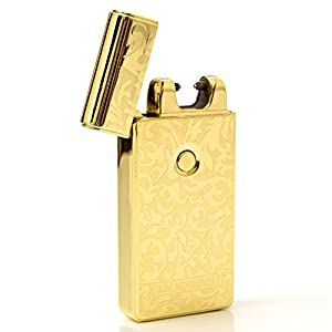 Best 2017 USB plazmatic Electric Rechargeable Arc Lighter, Enji Prime, spark At The Push Of a Button, Flameless, Windproof, Eco Friendly & Energy Saving, Electronic Cigarette