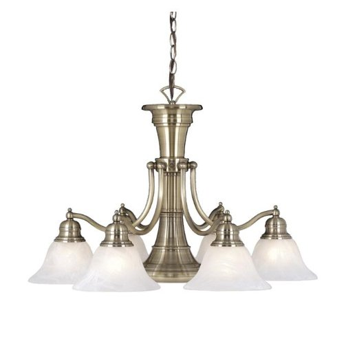 Vaxcel CH30307A Standford 7 Light Chandelier, Antique Brass Finish