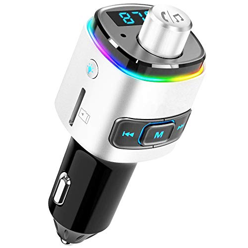 USB Car Fast Charger QC3.0 Bluetooth FM Transmitter MP3 Player Car Accessries Support TF/U Disk Dual USB Port Hands-Free Phone