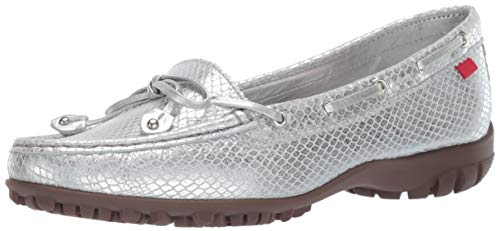 - Marc Joseph New York Womens Golf Genuine Leather Made in Brazil Cypress Hill Performance Loafer Moccasin, Metallic/Silver Snake, 7 B(M) US