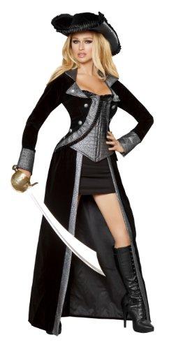 Roma-Costume-2-Piece-Pirate-Princess-Costume-Black-Medium