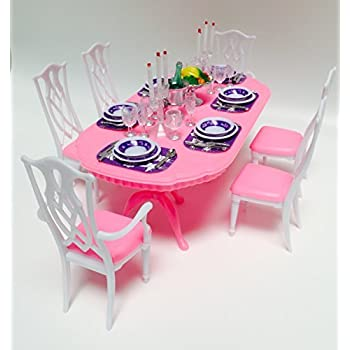 Amazon.com: Barbie Size Dollhouse Furniture- Dining Room: Toys & Games