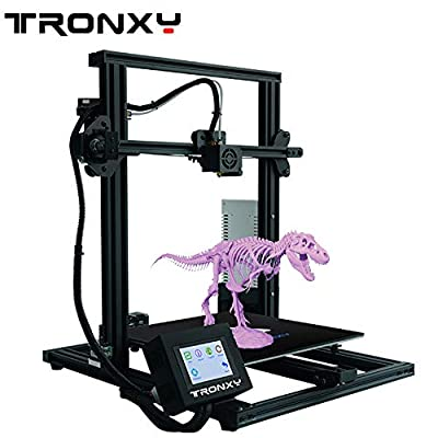 TRONXY XY-3 3D Printer Semi-Assembled with Filament Sensor and Power Resume Flexible Mat All Metal Frame Adjustable by Eccentric Nuts 310X310X330 (XY-3)